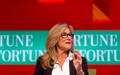 Angela Ahrendts, Chief Executive of Burberry, is one of a handful of FTSE female business leaders