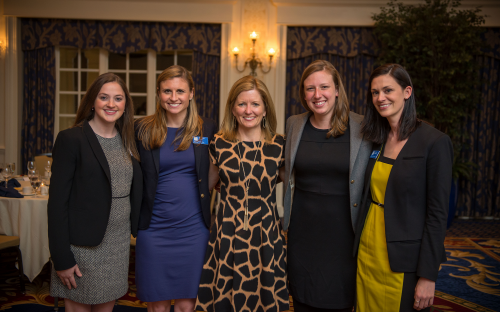 Duke's Association of Women in Business co-president Genevieve Joyce Lupton, second left