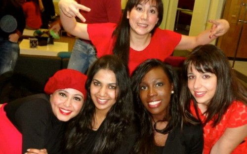 Kéou (second from right) and her classmates from the MSc International Health Management