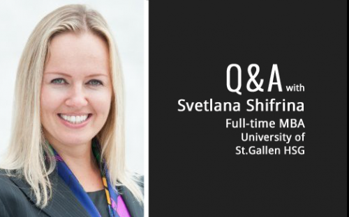 Svetlana Shifrina's friends in HR told her the St Gallen MBA was tops in the German-speaking world