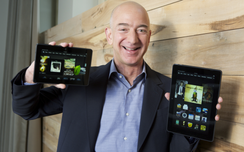 Amazon CEO Jeff Bezos just rolled out the Amazon Fire range (Image Credit: Amazon.com, Inc)
