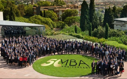 IESE Business School's new MBA cohort in Barcelona, Spain