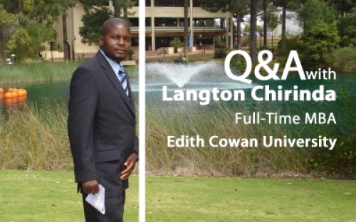 After completing the Edith Cowan MBA, Langton Chirinda decided to stay on and do a PhD
