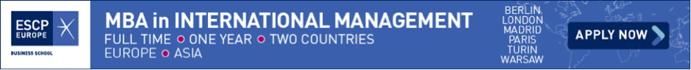 Banner of ESCP Europe MBA in International Management