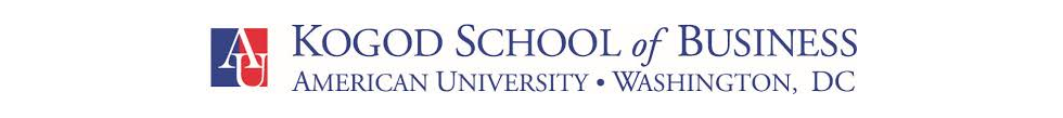 Banner ofKogod School of Business - American University