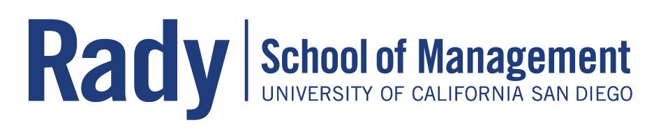 Logo of University of California San Diego: Rady